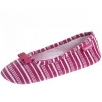 Купить Isotoner - Балеринки 93953 на резиновой подошве, Велюр розовый, размер 41-42