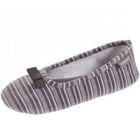 Isotoner - Балеринки 93953 на резиновой подошве, Велюр серый, размер 35-36 фото