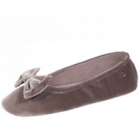 Купить Isotoner - Балеринки 95991 на кожаной подошве, Велюр коричневый, размер 35-36