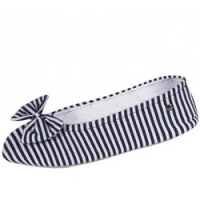 Купить Isotoner - Балеринки 97146 на кожаной подошве, текстиль синий, размер 35-36