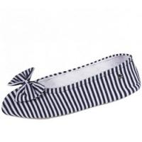 Isotoner - Балеринки 97146 на кожаной подошве, текстиль синий, размер 41-42 фото