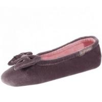 Купить Isotoner - Балеринки 99338 на кожаной подошве, Велюр коричневый, размер 27-28