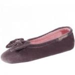 Фото Isotoner - Балеринки 99338 на кожаной подошве, Велюр коричневый, размер 29-30