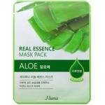 Фото Juno Real Essence Mask Pack Aloe - Маска тканевая с алоэ, 25 мл