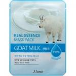 Фото Juno Real Essence Mask Pack Goat Milk - Маска тканевая с козьим молоком, 25 мл