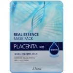 Фото Juno Real Essence Mask Pack Placenta - Маска тканевая с плацентой, 25 мл