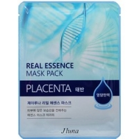 Купить Juno Real Essence Mask Pack Placenta - Маска тканевая с плацентой, 25 мл
