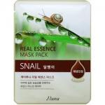 Фото Juno Real Essence Mask Pack Snail - Маска тканевая с улиткой, 25 мл