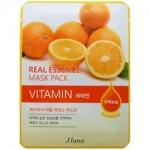 Фото Juno Real Essence Mask Pack Vitamin - Маска тканевая с витаминами, 25 мл