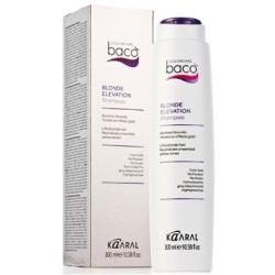 Фото Kaaral Baco Color Collection-Blonde Elevation Shampoo - Шампунь дающий блеск волосам и тонирующий седые волосы, 300 мл