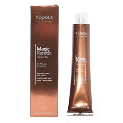 Фото Kapous Fragrance Free Non Ammonia Magic Keratin - Крем-краска для волос, тон8.44, светлый интенсивный медный блонд, 100 мл