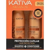 Kativa Argan Oil - Набор увлажняющий шампунь и кондиционер с маслом арганы, 2х100 мл<br>