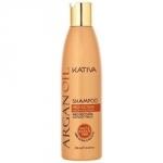 Фото Kativa Argan Oil Shampoo - Шампунь для волос увлажняющий с маслом арганы, 250 мл