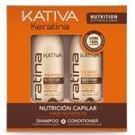 Kativa Keratina - Набор для всех типов волос укрепляющий с кератином, 2х100 мл