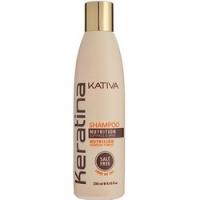 Купить Kativa Keratina Shampoo - Шампунь укрепляющий для всех типов волос с кератином, 250 мл