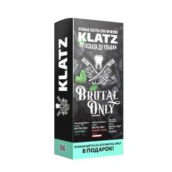 Фото Набор Зубная паста Klatz BRUTAL ONLY - Супер-мята, 75мл + Бешеный имбирь, 75мл + Зубная щетка жесткая