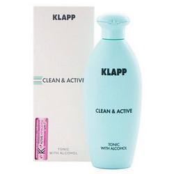 Фото Klapp Clean&Active Tonic With Alcohol - Тоник со спиртом, 250 мл