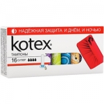Фото Kotex Ultrasorb Super - Тампоны, 16 шт