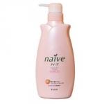Kracie Naive Peach&Rosehip Oil Shampoo - Шампунь для сухих волос, Персик и Шиповник, 550 мл.