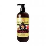 Фото Kumano cosmetics Infused With Horse Oil Conditioner - Кондиционер для сухих волос с 3 маслами: лошадиное, кокосовое и масло камелии, сменный блок, 400 мл