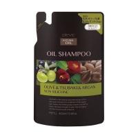 Купить Kumano cosmetics Oil Shampoo Olive & Tsubaki & Argan - Шампунь для сухих волос с 3 видами масел: оливковое, масло камелии и масло арганы, сменный блок, 400 мл
