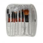 Фото Limoni Brush Set Professional Silver Travel Kit - Набор кистей, 7 предметов + чехол