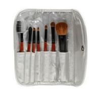 Limoni Brush Set Professional Silver Travel Kit - Набор кистей, 7 предметов + чехол фото