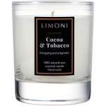 Фото Limoni Cocoa & Tobacco - Ароматическая свеча Какао и Табак, 140 гр