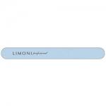 Фото Limoni Color - Пилка для ногтей голубая прямая, 240*240