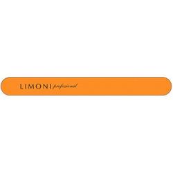 Фото Limoni Color - Пилка для ногтей оранжевая прямая, 180*180