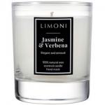 Фото Limoni Jasmine & Verbena - Ароматическая свеча Жасмин и Вербена, 140 гр