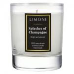 Фото Limoni Splashes Of Champagne - Свеча ароматическая Брызги шампанского, 160 гр
