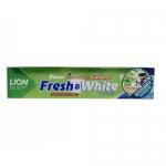Фото Lion Thailand Fresh & White Toothpaste - Паста зубная для защиты от кариеса прохладная мята, 160 г
