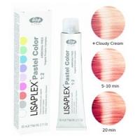 Lisap Milano Lisaplex Pastel Colors Orange Pink - Полуперманентная краска для волос, розовый апельсин, 60 мл