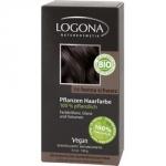 Фото Logona Powder Owder Intense Black - Краска растительная для волос, тон 101 Насыщенно-черный, 100 г