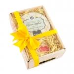 Фото Дом Природы - Подарочный набор Лукошко № 16: Крем - суфле для рук, 150 гр + Масло для губ Розовое, 11 гр