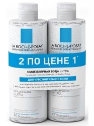 Фото La Roche Posay Physiological Cleansers Ultra - Набор мицеллярная вода для чувствительной кожи лица и глаз, 2х400 мл