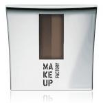 Фото Make Up Factory Eye Brow Powder - Тени-пудра для бровей с трафаретом, тон 1, интенсивный коричневый, 7,5 г