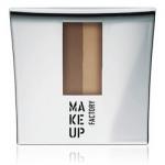 Фото Make Up Factory Eye Brow Powder - Тени-пудра для бровей с трафаретом, тон 4, кофейно-коричневый-коньячная роза, 7,5 г