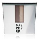 Фото Make Up Factory Eye Brow Powder - Тени-пудра для бровей с трафаретом, тон 6, коричневый-какао-свежий миндаль, 7,5 г