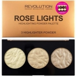 Фото Makeup Revolution Highlighter Palette Rose Lights - Палетка хайлайтеров