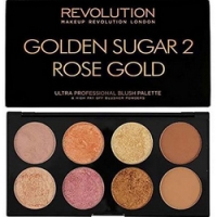 Makeup Revolution Ultra Blush Palette Golden Sugar 2 Rose Gold - Палетка румян