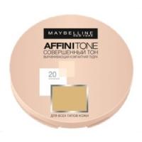Maybelline Affinitone - Выравнивающая пудра Совершенный тон, тон 20 натурально-бежевый