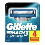 Фото Gillette Mach 3 Turbo - Сменные картриджи для бритья Gillette, 4 шт