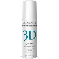 Фото Medical Collagene 3D Easy Peel - Гель-пилинг для лица с хитозаном на основе гликолевой кислоты 10% pH 2.8, 130 мл