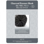 Фото Mijin Charcoal Essence Mask - Маска тканевая с древесным углем, 23 г