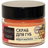 Mi&Ko - Скраб для губ Мед и малина, 15 мл