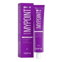 Tefia MyPoint - Гель-краска для волос тон в тон, 10.87 экстра светлый блондин коричнево-фиолетовый, 60 мл