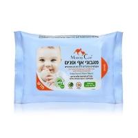 Mommy Care - Натуральные детские влажные салфетки для лица и носиков, 24 шт