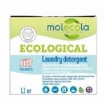 Фото Molecola - Стиральный порошок для белого белья с растительными энзимами, экологичный, 1,2 кг